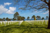 Cimitero americano in Normandia. Foto.